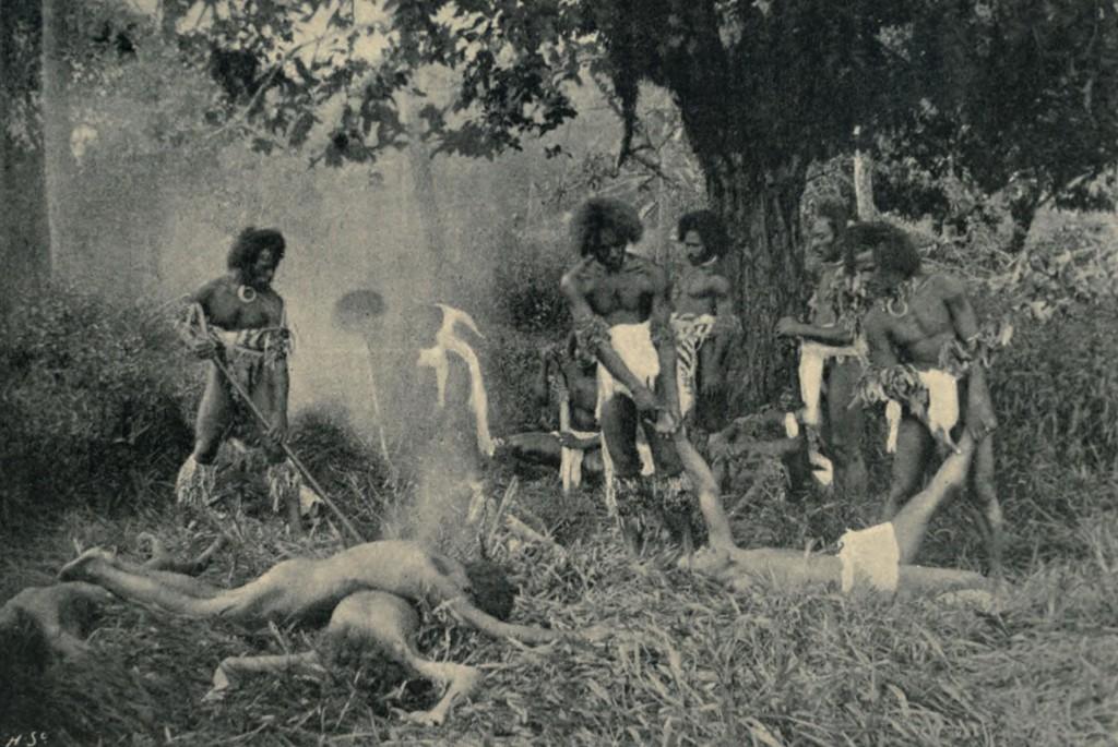 A_Cannibal_Feast_in_Fiji,_1869_(1898)