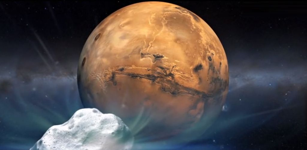 Comet sliding spring come within 87,000 miles of Mars
