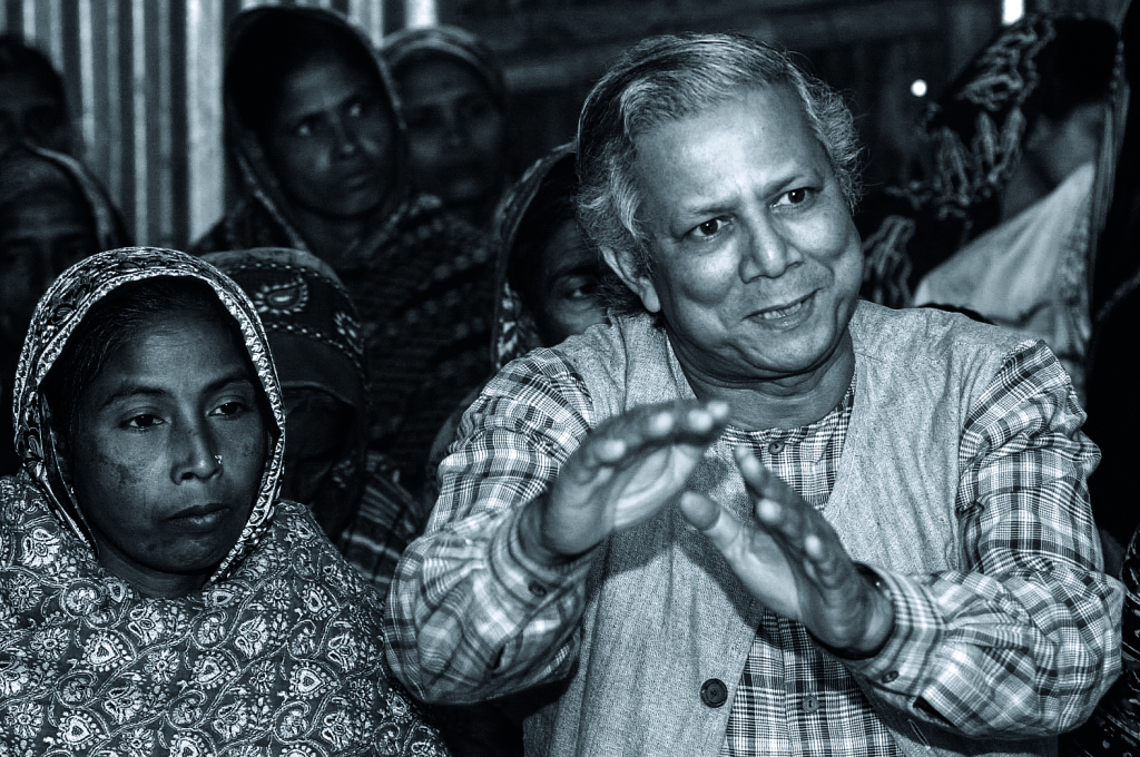 YUNUS AND VILLAGERS