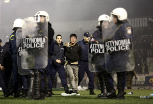 Greece Soccer Clashes